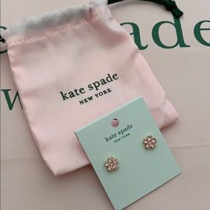 NWT Kate Spade Light Pink Flowered Stud Earrings